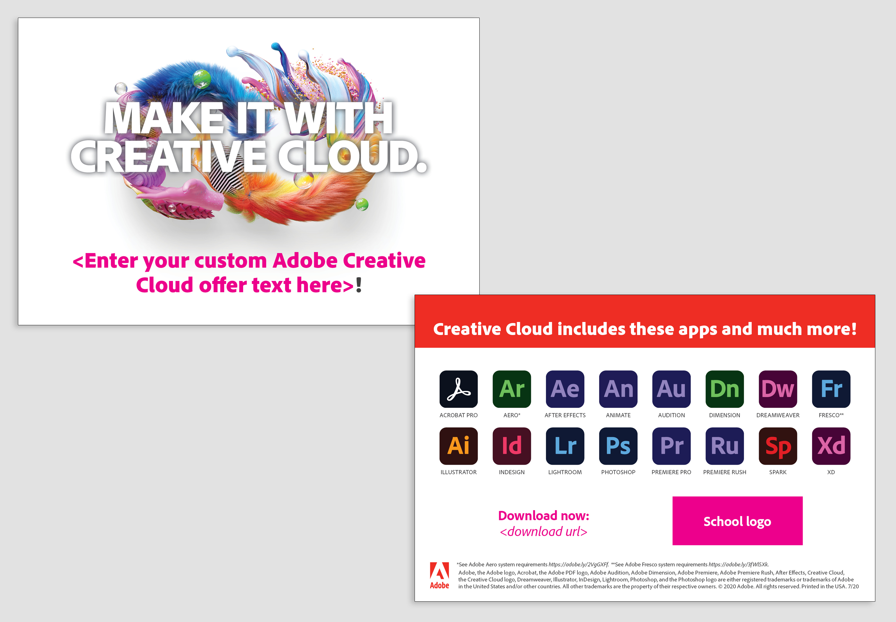 Make It With Creative Cloud custom awareness postcard