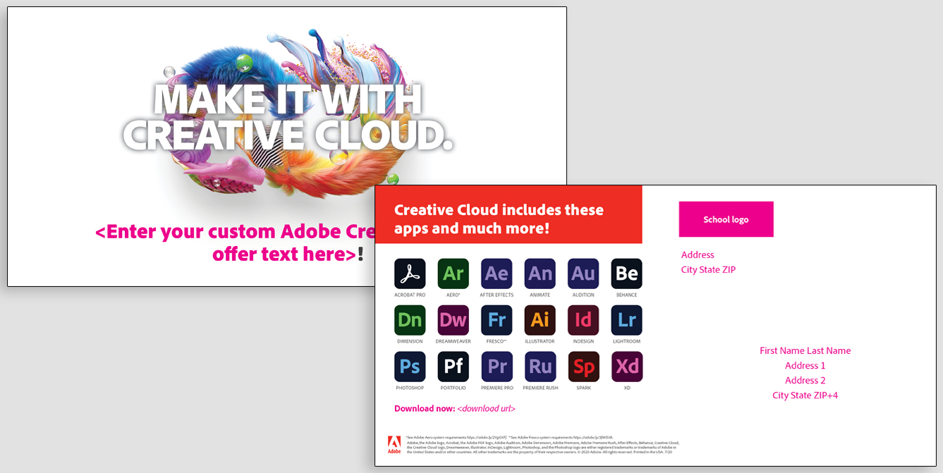 Make It With Creative Cloud custom awareness mailer
